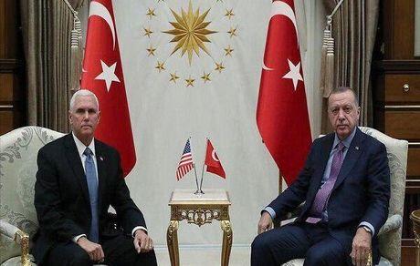 اردوغان با پنس ملاقات کرد