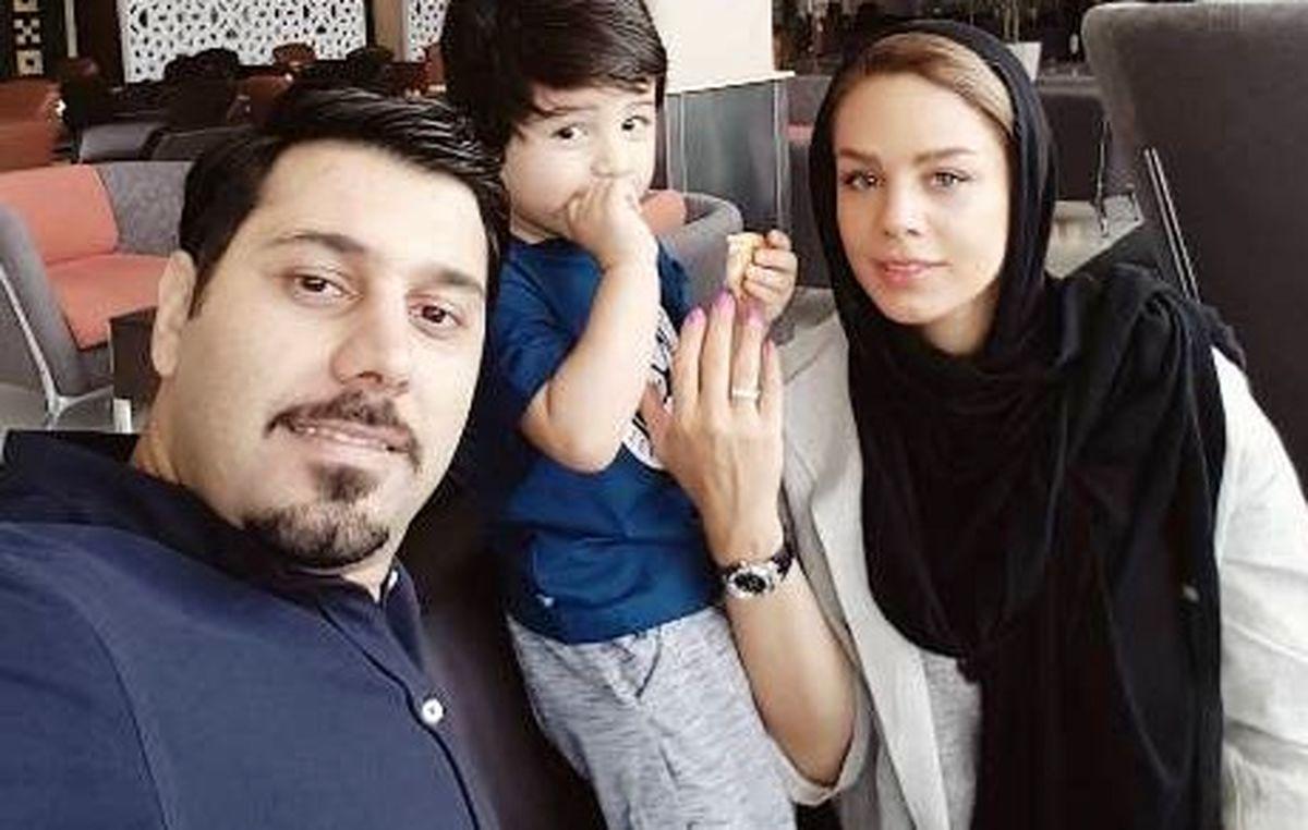 عکس لورفته و جنجالی از احسان خواجه امیری و همسرش در خارج + عکس و ...