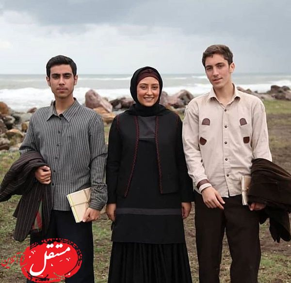 الهام طهموری و پسرانش + عکس