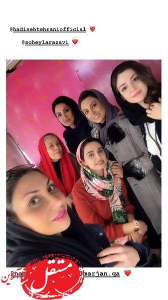 خانم های بازیگر در پشت صحنه سریال معروف + عکس