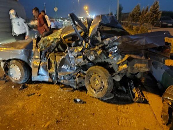 تصادف وحشتناک در جاده ورامین + تصاویر