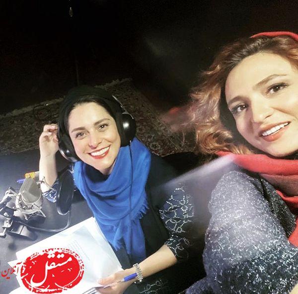 سلفی گلاره عباسی با بازیگر خوش صدا + عکس
