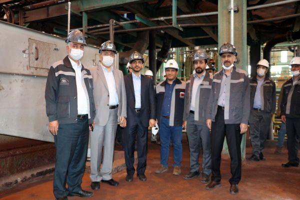 بازدید مدیرعامل و اعضا هیئت مدیره شرکت معدنی و صنعتی گلگهر از کارخانه بازیابی هماتیت